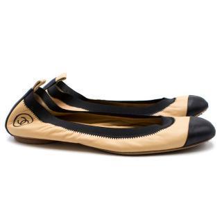Chanel Leather Ballet Pumps