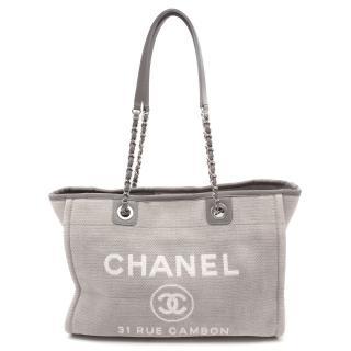 Chanel Deauville Canvas Tote