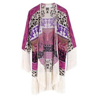 Athena Procopiou Printed Silk Kimono