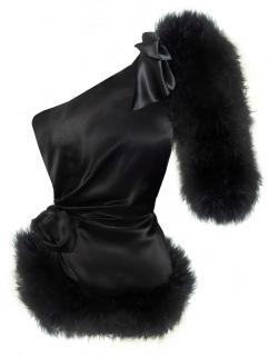 Maguy De Chadirac Black One shoulder Pyjama