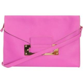 Sophie Hulme Pink Envelope Clutch Crossbody Bag