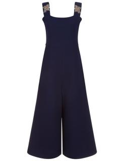 Shrimps Navy Crepe Jules Jumpsuit