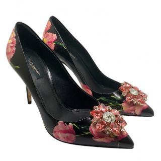 Dolce & Gabbana pink tulips pumps