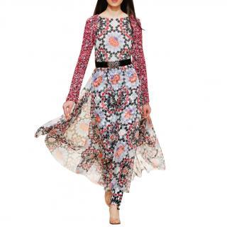 Chanel Paris-Dubai long sleeved silk dress