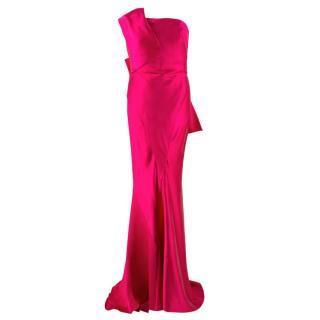 Donna Karan Pink Mikado Silk Gown
