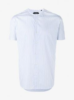 Curieux Stripe Collarless Shirt