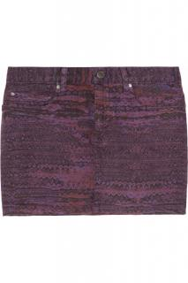 See By Chloe Arizona Printed Stretch-Cotton Drill Mini Skirt