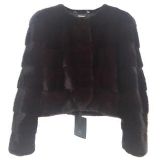 CPL Saga Mink Burgundy Jacket