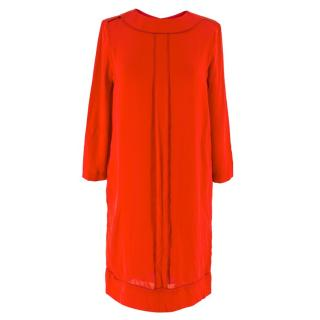 Victoria, Victoria Beckham Red Shift Dress