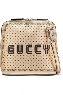 Gucci Linea X Printed Metallic Shoulder Bag