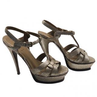 YSL Gold Tribute Sandals