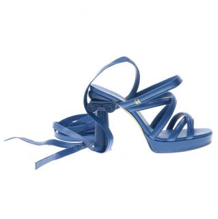 Chanel Tie-Up Heeled Sandals