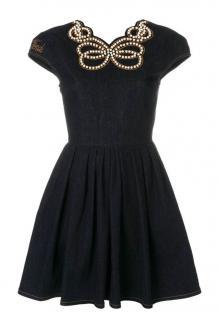 Fendi Pearl Embellished Denim Dress