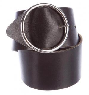 Dolce Gabbana Black Leather Wide Belt