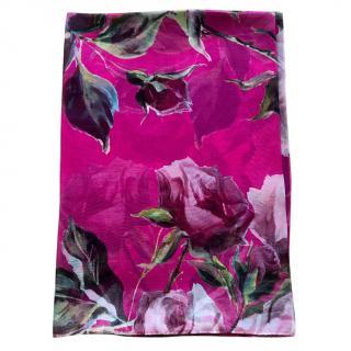 Dolce & Gabbana pink roses scarf