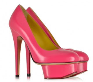 Charlotte Olympia Dolly Pink Platform Pumps