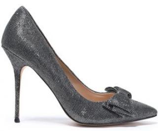 Lucy Choi Silver Glitter Heels