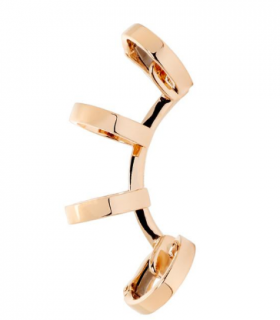 Repossi 18ct rose gold berbere multi band ear cuff