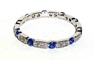 Jolie Sapphire & Diamond Stack full eternity ring
