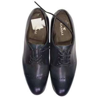 CANALI Formal Navy Shoes - Size 8 RRP �495