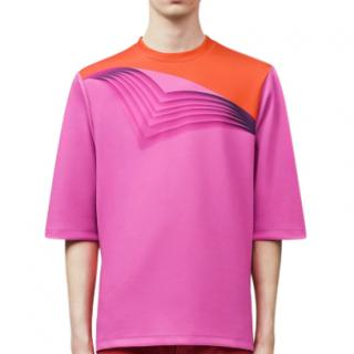 Christopher Kane Men's Pink & Orange Pages T-shirt