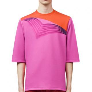 Christopher Kane Men's Pink & Orange Pages T-shirt
