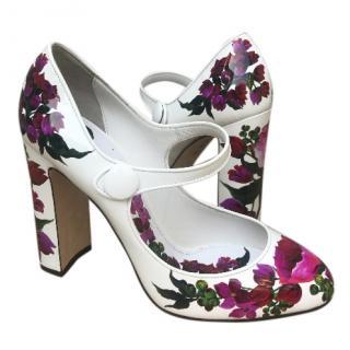 Dolce & Gabbana Handpainted Floral Pumps