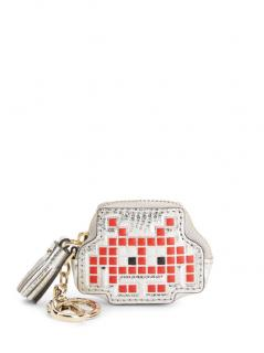 Anya hindmarch space invader coin purse tassel