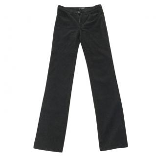 Armani black corduroy trousers