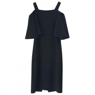 Tara Jarmon black off-the-shoulder cocktail dress