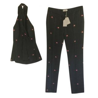 Mulberry lucky leaf jacquard matching outfit