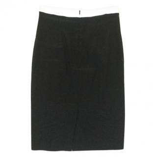 Paul Smith black skirt with white waistband