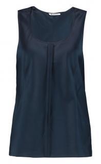 T By Alexander Wang Women's Blue Stretch-silk Satin Tank