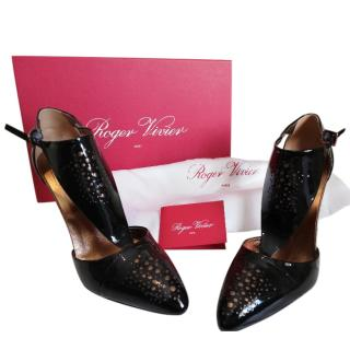 Roger Vivier Black and Gold Heel Shoes