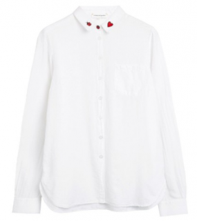 Chinti & Parker Ladybird Embroidered White Shirt