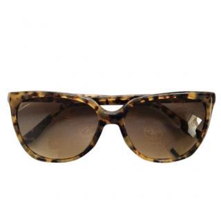 Gucci Havana tortoiseshell print sunglasses