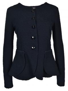 Armani Collezioni Navy Textured Blazer