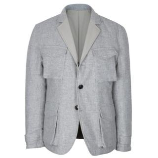 Hardy Amies Grey & Cream Reversible Jacket