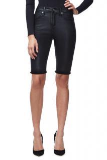 Good American Bermuda Black Waxed Shorts