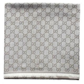 Gucci Beige Wool Scarf