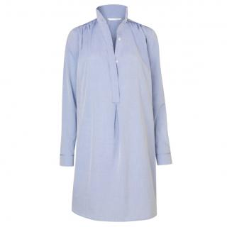 Atea Oceanie Stevenson Shirt Dress Oxford Blue Marled Cotton