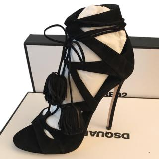 DSquared 2 Black Suede Sandals