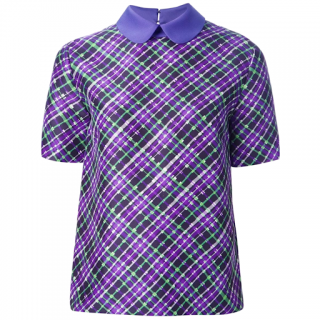 Roksanda Ilincic Purple & Green Silk Blouse