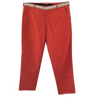 Folk Red Chino Trousers