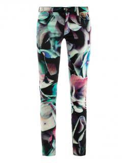 J Brand 620 Super-Skinny Hydrangea-Printed Jeans