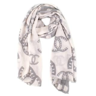 Chanel Cashmere and Silk Scarf