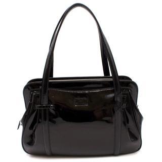 Lulu Guinness Black Patent Leather Handbag