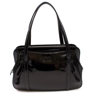 Lulu Guinness Black Patent Leather Handbag