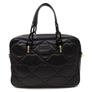 Lulu Guinness Black Leather Shoulder Bag