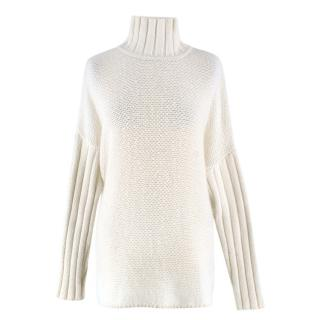 Pringle of Scotland Cream Cashmere Knit Sweater